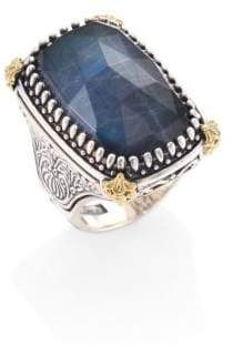 Konstantino Cassiopeia Doublet Spectrolite, 18K Yellow Gold, & Sterling Silver Ring