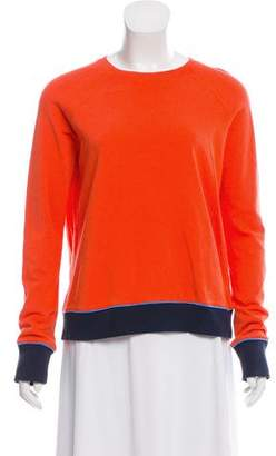 Tory Sport Crew Neck Long Sleeve Top