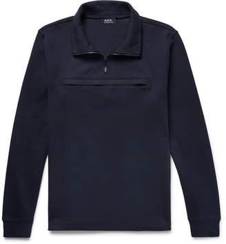 A.P.C. Cotton-Jersey Half-Zip Sweatshirt