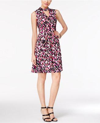 Ny Collection Mock-Neck A-Line Dress $50 thestylecure.com