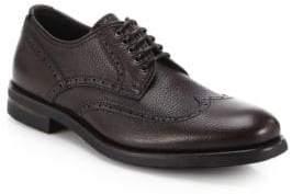 Aquatalia Carson Pebbled Leather Derby Shoes