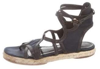 Balenciaga Leather & Canvas Espadrille Sandals