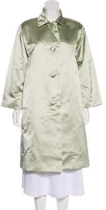 Oscar de la Renta Button-Up Long Coat