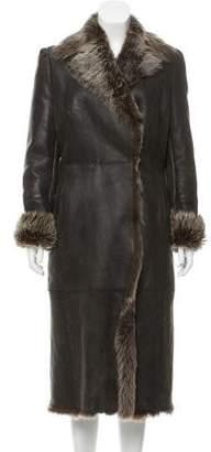 Valentino Coated Shearling Coat