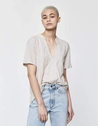Which We Want Florence Short Sleeve Tee in Silver