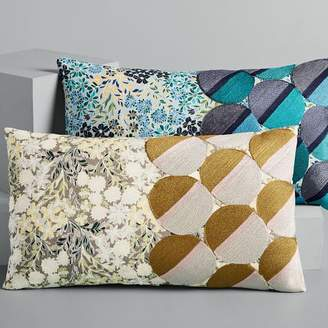 west elm Embroidered Dot Floral Pillow Covers
