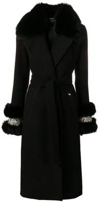Philipp Plein fox fur trim coat