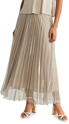 MANGO Breeze-A Pleated Maxi Skirt