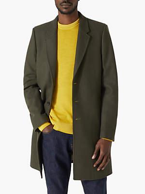 Jigsaw Compact Wool Epsom Coat, Khaki