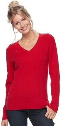 Croft & Barrow Women's Cable-Knit Sweater