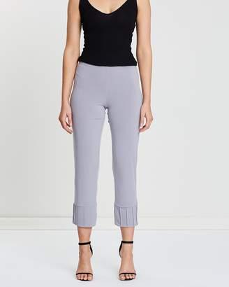 Crop Pintuck Pants