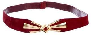 Judith Leiber Embellished Suede Belt