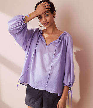 Lou & Grey Tie Up Blouse