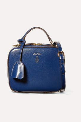 Mark Cross Baby Laura Metallic Patent-leather Shoulder Bag - Blue