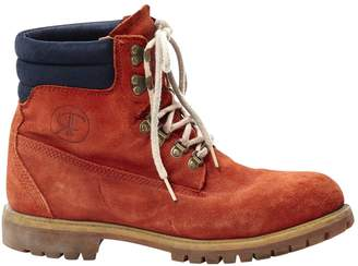 Timberland Orange Suede Boots