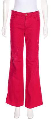 Tory Burch Mid-Rise Wide-Leg Jeans