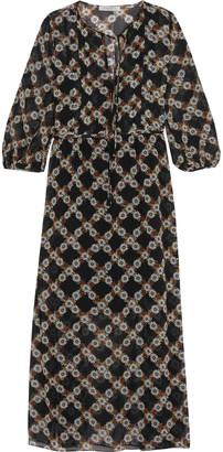 Sandro Rebell floral-print chiffon midi dress $530 thestylecure.com
