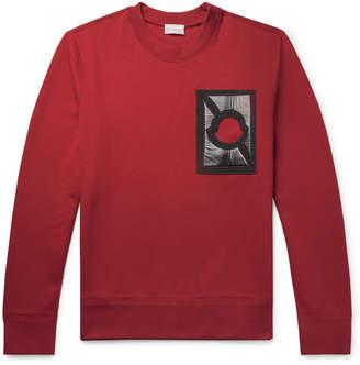 Cotton 5 Mr Craig Sweatshirt Moncler Green Porter Appliquéd Jersey At Blend Genius · z4xqq0