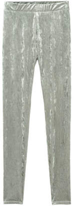 H&M Crushed Velvet Leggings - Gray