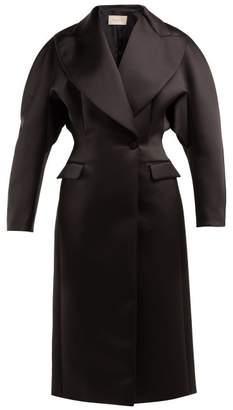 Christopher Kane Double Breasted Duchess Satin Coat - Womens - Black
