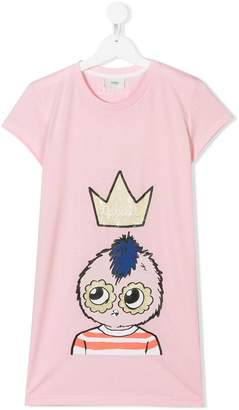Fendi TEEN Queen printed T-shirt