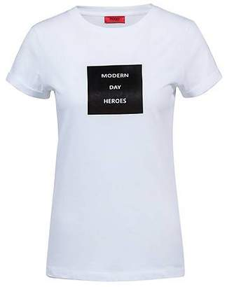 e9101667c HUGO BOSS Slim-fit T-shirt in cotton with collection slogan print