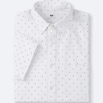Uniqlo Men's Broadcloth Printed Short-sleeve Shirt
