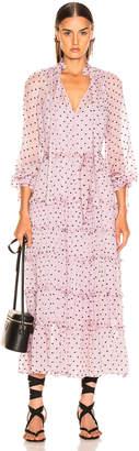Zimmermann Ninety Six Neck Tie Dress in Lilac Dot   FWRD