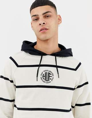 HUF Transit Hooded Long Sleeve T-Shirt With Stripes