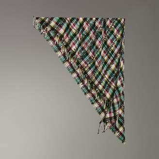 Burberry The Bandana in Scribble Check Cotton Silk