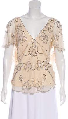 Temperley London Silk Embellished Top