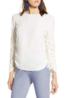 Halogen Cinched Sleeve Blouse (Regular & Petite)