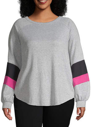 Boutique + + Colorblock Balloon Sleeve Sweatshirt - Plus