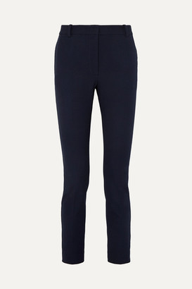 Joseph Zoom Cropped Stretch-gabardine Slim-leg Pants - Navy