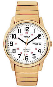Timex Men's Fashion Easy Reader Goldtone Exp Band Watch $53 thestylecure.com