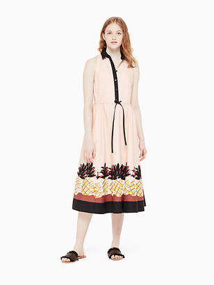Kate Spade Pineapple patch shirtdress