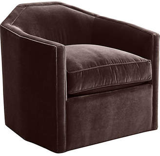 Mr & Mrs Howard Speakeasy Swivel Glider Chair - Chocolate Velvet