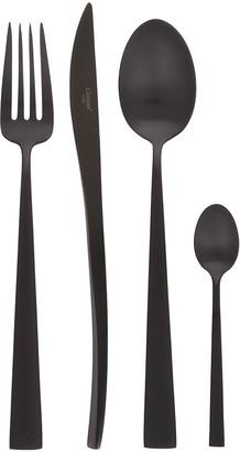 Duna Matt Black Cutlery Set