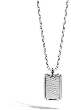 John Hardy Men's Large Sterling Silver Dog Tag Necklace