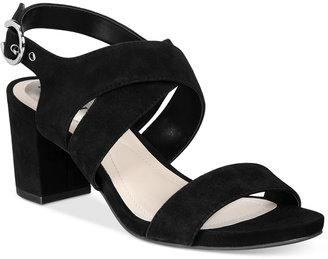 Alfani Regann Step 'N Flex Block-Heel Sandals, Created for Macy's Women's Shoes $69.50 thestylecure.com