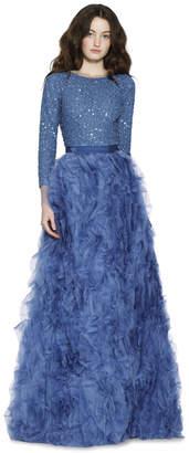 Alice + Olivia Posey Ruffle Ball Gown Skirt