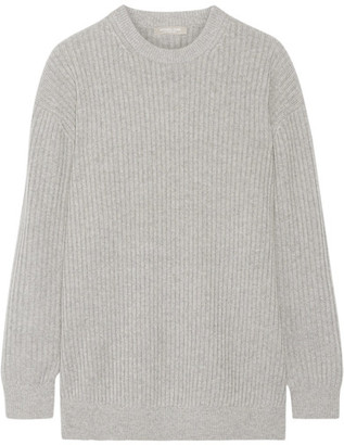 Michael Kors Collection - Oversized Ribbed Cashmere Sweater - Gray $1,495 thestylecure.com