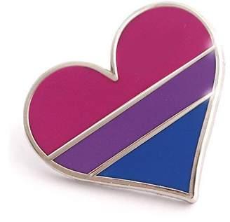Compoco Pop Bisexual pride pin flag enamel lapel heart gay pin brooch