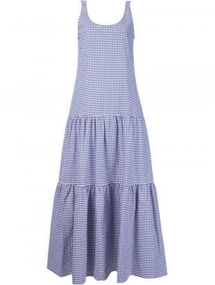 Lisa Marie Fernandez plaid ruffled mid-length dress $545 thestylecure.com