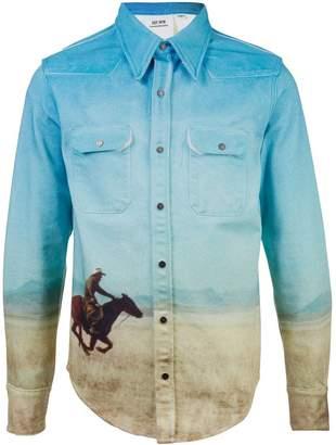 Calvin Klein western scene shirt jacket