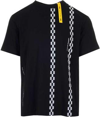 Moncler Genius Fragment Check Striped Print T-Shirt