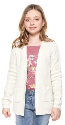 Dex Girl's Ribbed Open-Front Cardigan