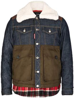 DSQUARED2 Dsquared Mixed Fabric Bomber
