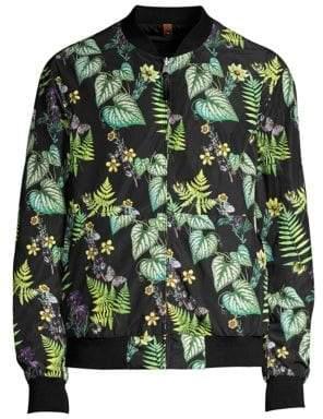 Mackage Dimos Reversible Floral Bomber Jacket