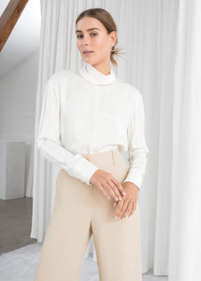 And other stories Satin Turtleneck Blouse